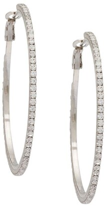 Miu Miu Crystal Hoop Earrings