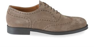 Giorgio Armani Men's Brogue Suede Oxford Shoes