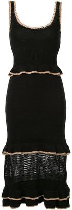 SUBOO Mimi ruffled-knit dress