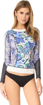 Maaji Shiny Sky Rash Guard Top