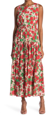 MelloDay Floral Tiered Maxi Dress