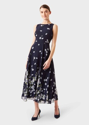 Hobbs Carly Floral Midi Dress