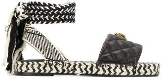 Kurt Geiger Mila woven sandals