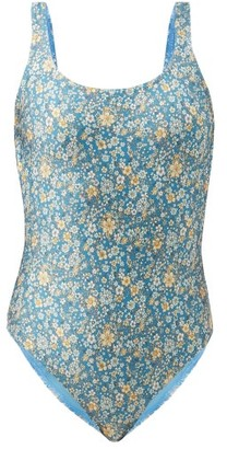 Zimmermann Carnaby Floral-print Swimsuit - Blue Print