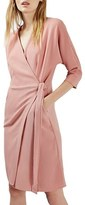 Topshop Women's Dolman Sleeve Wrap Midi Dress
