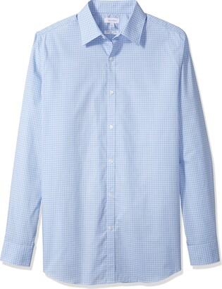 Calvin Klein Men's Big and Tall Long Sleeve Button Down Check Shirt