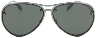 Alexander McQueen Core 63mm Aviator Sunglasses