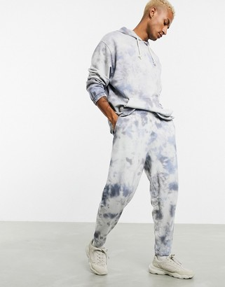 ASOS DESIGN co-ord oversized joggers in tie dye wash
