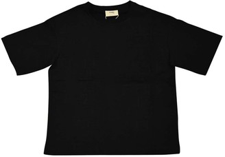 Fendi Black T-shirt With Logo Trama
