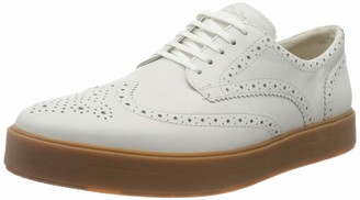 Clarks Hero Limit Leather Shoes in White Standard Fit Size 7