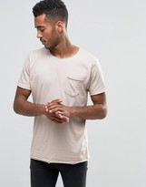 Brave Soul Plain Raw Edge T-Shirt