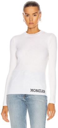 Moncler Girocollo Tricot Top in Cream | FWRD