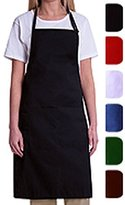 Bib Aprons-MHF Aprons-1 Piece Pack-new Spun Poly-commercial Restaurant Kitchen-(White)