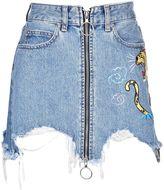 Marcelo Burlon County of Milan Amine Jeans Skirt