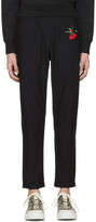 Alexander McQueen Black Hummingbird Lounge Pants
