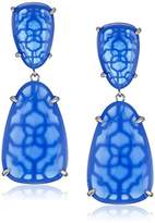 Kendra Scott Katie Rhodium Periwinkle Drop Earrings