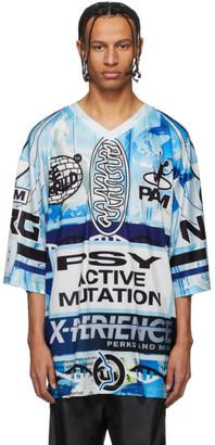 Perks And Mini Blue Oversized Planet Hockey T-Shirt