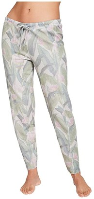 Chaser Linen French Terry Raw Edge Lounge Pants (Magnolia Print) Women's Casual Pants