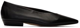 Bottega Veneta Black Nappa Ballerina Flats