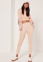 Missguided Washed Basic Joggers Nude