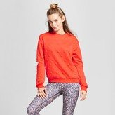 JoyLab Women's Polka Dot Sweater With Elbow Cut Outs
