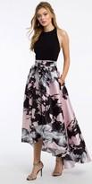 Camille La Vie Halter Floral High Low Prom Dress