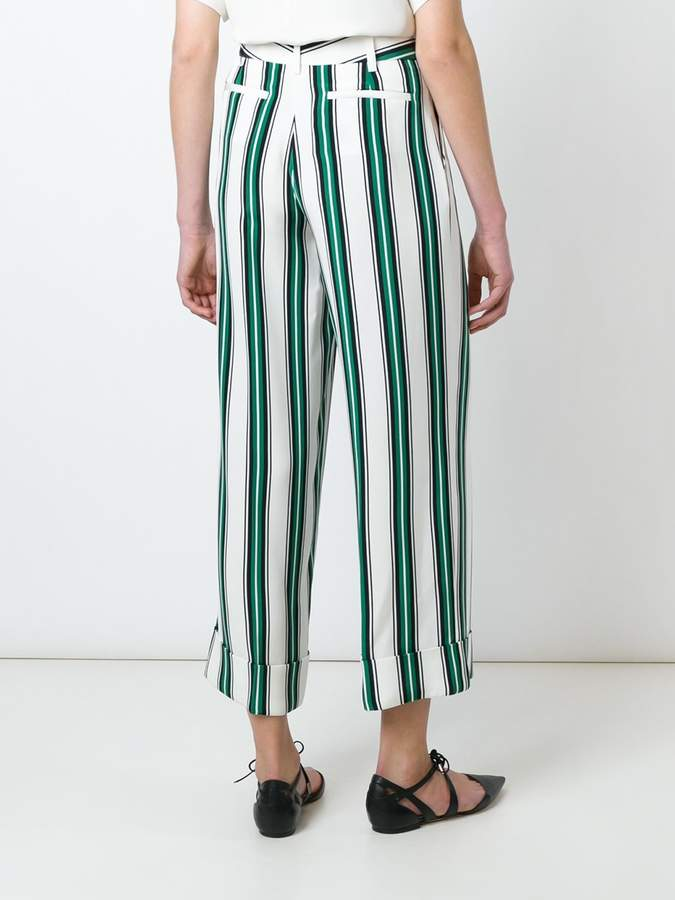 Salvatore Ferragamo striped wide leg trousers