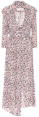 Chloé Floral georgette wrap dress