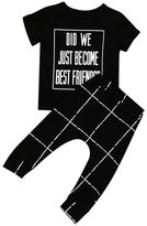 Morecome 1Set Baby Girls Boy Letter Print T-shirt +Pants Outfits (6M, )