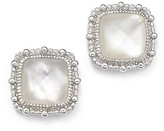 Judith Ripka Sterling Silver Rapture Doublet Stud Earrings with Mother-of-Pearl and Rock Crystal