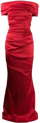 Talbot Runhof Rosso bandeau dress