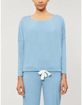 Eberjey Heather cotton-blend jersey pyjama top