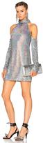 Ashish Cold Shoulder Dress in Metallics.