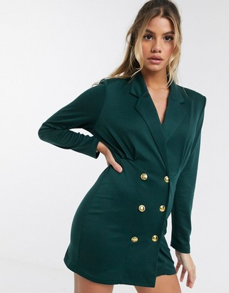 ASOS DESIGN military button jersey blazer