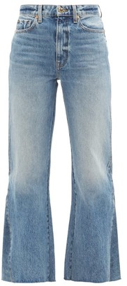 KHAITE Layla High-rise Kick-flare Jeans - Light Blue