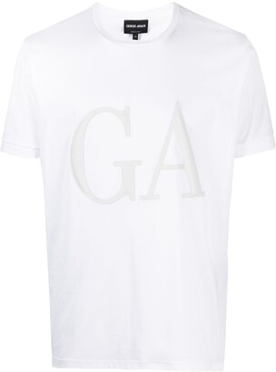 Giorgio Armani monogram logo print T-shirt