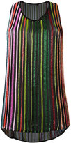Balmain glass beaded stripe tank top - women - Silk/glass - 42