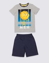Marks and Spencer Cotton Rich Emoji Print Short Pyjamas (7-16 Years)