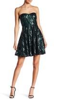 Minuet Strapless Sequin Dress