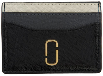 Marc Jacobs Black and Grey Snapshot Card Holder