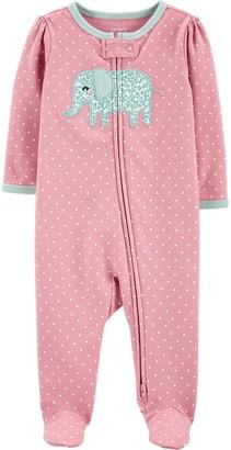 Carter's Baby Girl Elephant 2-Way Zip Sleep & Play