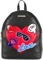 Love Moschino heart embellished backpack