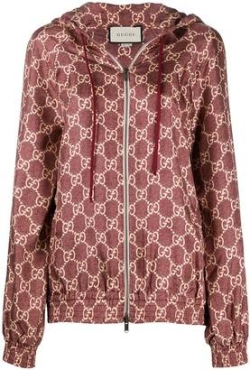 Gucci Burgundy Logo Print Track Jacket