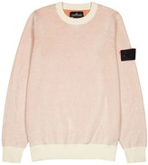 Stone Island Shadow Project Salmon ribbed cotton jumper