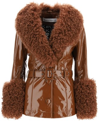Saks Potts shorty jacket in shiny leather