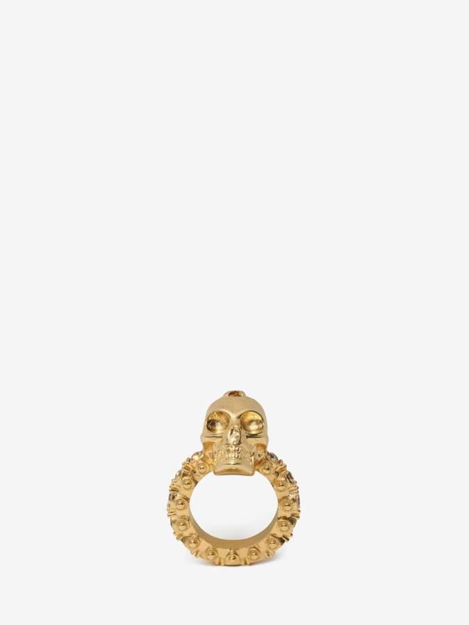 Alexander McQueen Jewelled Skull Ring