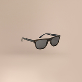 Burberry Folding Rectangular Frame Polarised Sunglasses