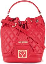 Love Moschino quilted drawstring crossbody bag
