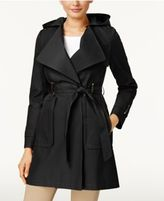 Via Spiga Hooded Water-Resistant Asymmetrical Draped Coat
