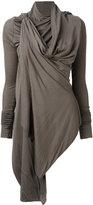 Rick Owens Lilies draped jacket - women - Cotton/Polyamide/Viscose - 40